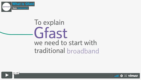 placeholder image for video explaining G Fast broadband compared to regular internet and what the benefits are